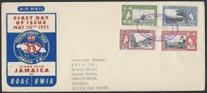 JAMAICA 1955 cover POST 300 OFFICE TRD cancel..............................47401