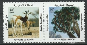 Morocco 2017  Animals, Tree 2 MNH stamps