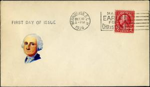 #634 U.S. FIRST DAY COVER WASHINGTON CACHET BM9317
