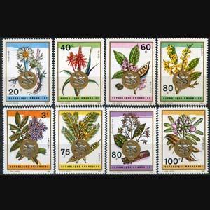 RWANDA 1969 - Scott# 298-305 Medicinal Plants Set of 8 LH