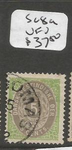 Danish West Indies SC 8a VFU (8cnq)