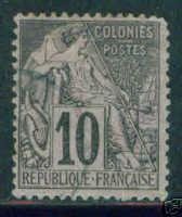 French Colonies Scott 50 used 1881 stamp CV $3.75