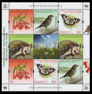 2016 Karabakh Republic 118-121KL Flora and Fauna of Artsakh