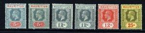 MAURITIUS KG V 1921-34  Die II Part Set Wmk Mult Script CA SG 227 to SG 236 MINT