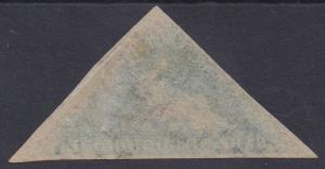 CAPE OF GOOD HOPE 1853 TRIANGLE 4D ON LIGHT BLUED PAPER USED