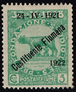 ITALY FIUME STAMP 1921 New Daily Stamps from 1919 Ovpt.  MNH/OG 5C