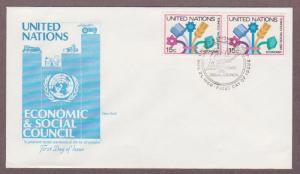 UN # 341 , Economic & Social Council Pair on Artmaster FDC - I Combine S/H
