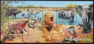 Botswana 2001 Wetlands Animals Part 2 Chobe Rive Lion Elephant Nature Stamps MNH