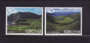 Faroe Islands 280-281 Set MNH Tourism, Scenes