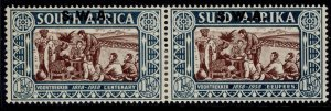 SOUTH WEST AFRICA GVI SG107, 1½d + 1½d chocolate & blue-green, M MINT. Cat £32.