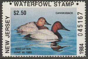 U.S.-NEW JERSEY 1-2, STATE DUCK HUNTING PERMIT STAMPS. MINT, NH. VF