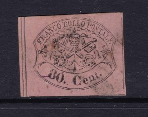 Papal State an 80c used?? imperf from 1867
