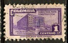 Colombia; 1946: Sc. # RA23: O/Used Single Stamp