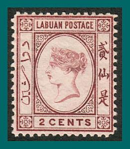 Labuan 1892 Queen Victoria 2c MNG  #33,SG39