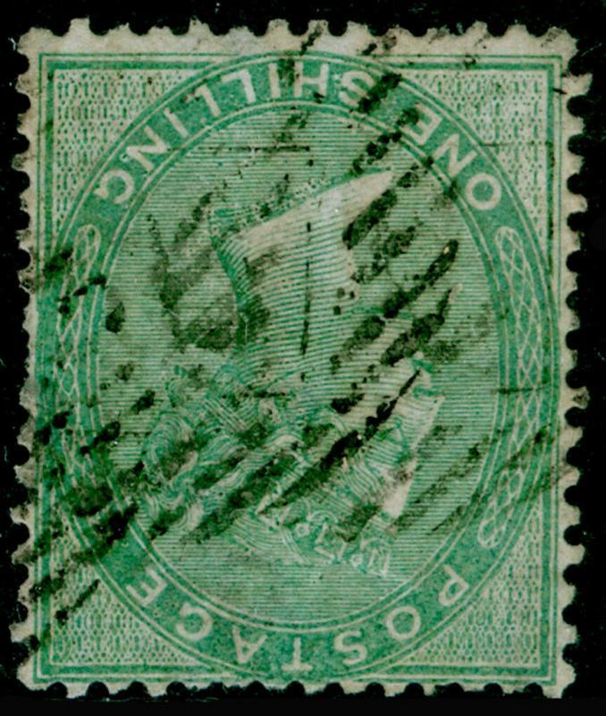 SG73WJ, 1s pale green, USED. Cat £1400. WMK INV & REV
