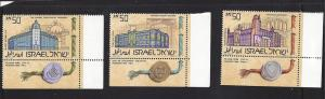 Israel, 939-41, Inst. Higher Learning Singles w/Tabs,**MNH**