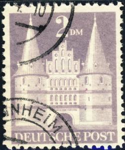 ALLEMAGNE / GERMANY Bizone 1948 Mi.98.YIIB(98.IIwg) 2DM T.2 p.11 - VF Used (f)