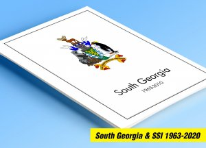 COLOR PRINTED SOUTH GEORGIA & S.S.I. 1963-2020 STAMP ALBUM PAGES (87 ill. pages)