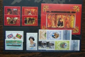 Grenada 1985 Christmas Paintings set & M/S Royal Visit set etc MNH