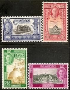 Ceylon 296-99 Mint OG 1947 New Constitution