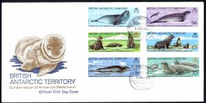 British Antarctic Territory Sc# 96-101 FDC 1983 Antarctic Seals