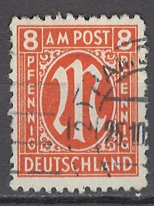 COLLECTION LOT OF #1101 GERMANY AMG OCCUPATION # 3N6 1945 CV= $30