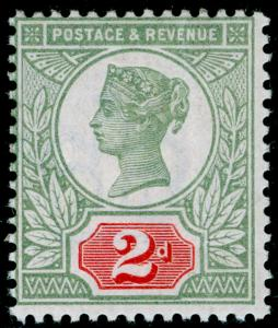SG199 SPEC K30(1), 2d green & scarlet, NH MINT. Cat £550.