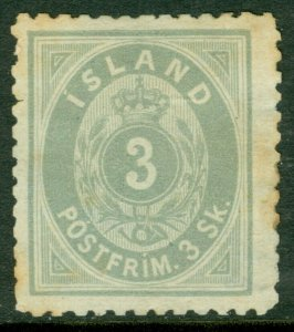 EDW1949SELL : ICELAND 1873 Scott #5 Mint No Gum. Light toning. Catalog $650.00.
