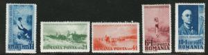ROMANIA Scott B94-98 MH* Semi-Postal set 1938 CV$16.50