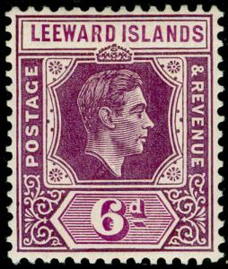 LEEWARD ISLANDS SG109a, 1d red, LH MINT. Cat £12.