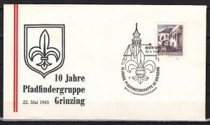 Austria, 1956 issue. 22/MAY/65. Grinzing Pathfinder cancel on a Cachet cover.