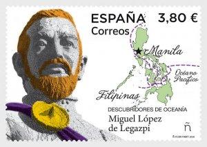 Stamps Spain 2020- Discoverers Of Oceania - Miguel Lopez De Legazpi - Mint.