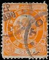 94915g - JAPAN  - STAMPS  -  Mi # 65  Perforation 13 - USED