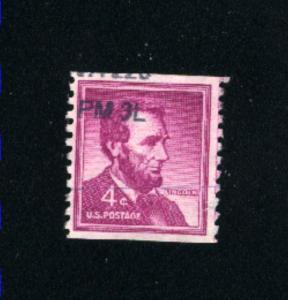 USA #1058  5  used 1954-1973 PD .08