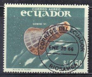 ECUADOR  SC # 749D **USED** 1966  SPACE SEE SCAN