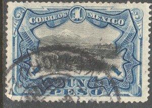 MEXICO 302, $1P VIEW OF POPOCATEPETL VOLCANO. USED. G-F. (902)