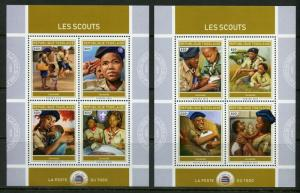 TOGO 2019 SCOUTS  SET OF TWO  SHEETS  MINT NH
