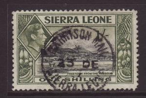 1938 Sierra Leone 1/- Garrison Mail CDS SG196