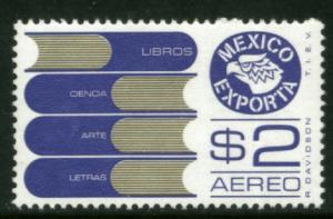 MEXICO Exporta C493 $2P Books Fluor Paper 6 MINT NH. VF.