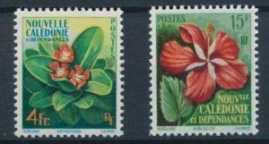 New Caledonia 1958 #304-5 MNH. Flowers