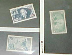 FRANCE STAMPS   #301,308,414  MINT LIGHT HINGED  cat.$65.00