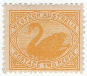 (I.B) Australia Postal : Western Australia 2d Yellow (SG 118)
