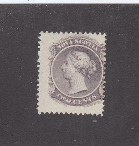 NOVA SCOTIA  # 9  FVF-MH 2cts 1860-63 QUEEN VICTORIA /VIOLET CAT VALUE $15