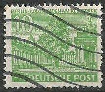 BERLIN, 1949, used 10pf  Schoeneberg Scott 9N47