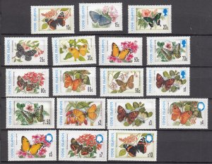 J28402 1997-8 cook island mnh part of set #1216-26g butterflies