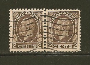 Canada 196 King George V Pair Used
