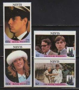 Nevis MNH 498-9 Pairs Royal Wedding Prince Andrew & Sarah