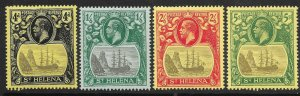ST.HELENA SG92/5 1922-3 MCA DEFINITIVE SET TO 5/= MTD MINT