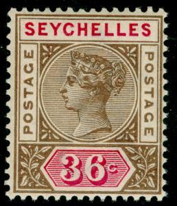 SEYCHELLES SG32, 36c brown & carmine, NH MINT. Cat £45.