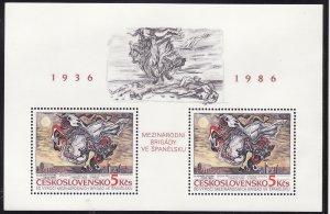 Czechoslovakia #2625 s/sheet F-VF Mint NH ** International Brigades in Spain